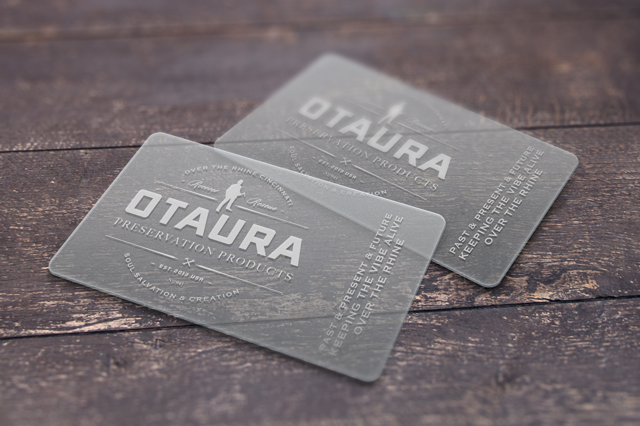 otaura translucent business cards mockup - Translucent Business Cards