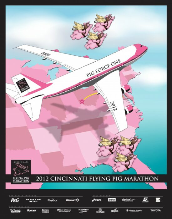 Flying Pig Marathon Poster Version 2